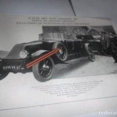 Coleccionismo Papel Varios: RECORTE AÑO 1922(SAN SEBASTIÁN)S.M.EL REY,VISITA EL STAND RENAULT(PINTOR FRANCÉS LEÓN BONNAT. Lote 266583343