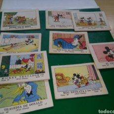 Coleccionismo Papel Varios: LOTE DE 9 CUENTOS DE CALLEJA DE 1942. JUGUETES INSTRUCTIVOS MICKEY. WALT DISNEY. Lote 267355894