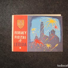 Coleccionismo Papel Varios: LLEIDA-FERIAS Y FIESTAS DE LERIDA-PROGRAMA ANTIGUO-AÑO 1956-VER FOTOS-(81.479). Lote 268156144