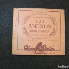 Coleccionismo Papel Varios: BARCELONA-ALMACENES BERLIN-500 ANEXOS DUPLICADOS-VER FOTOS-(K-3241). Lote 268158209