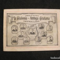 Coleccionismo Papel Varios: GRANOLLERS-ORQUESTRA LA CATALONIA ANTIGA CATALANA-PUBLICIDAD ANTIGUA-VER FOTOS-(K-3231). Lote 268159614