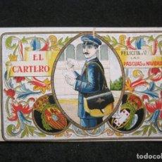 Coleccionismo Papel Varios: EL CARTERO-FELICITACION ANTIGUA-VER FOTOS-(81.496). Lote 268164374