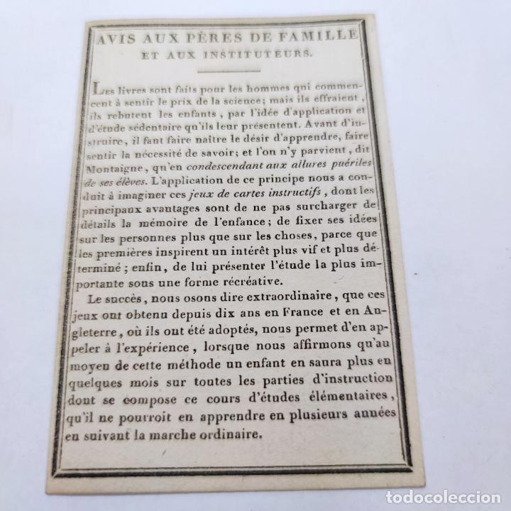 Coleccionismo Papel Varios: Colección de 43 cartas en estuche. La historia de los animales. París. Chez ant. Aug. Renouard. - Foto 2 - 268938964