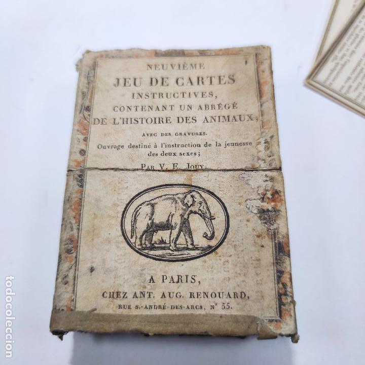 Coleccionismo Papel Varios: Colección de 43 cartas en estuche. La historia de los animales. París. Chez ant. Aug. Renouard. - Foto 4 - 268938964