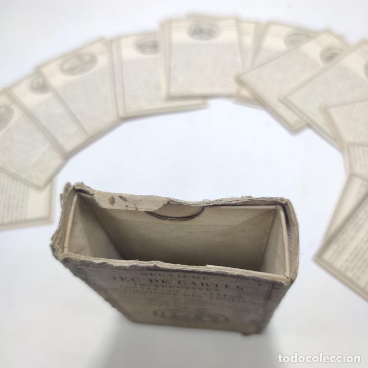 Coleccionismo Papel Varios: Colección de 43 cartas en estuche. La historia de los animales. París. Chez ant. Aug. Renouard. - Foto 5 - 268938964