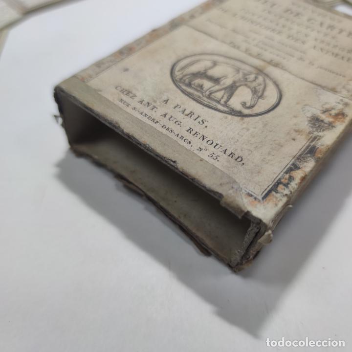 Coleccionismo Papel Varios: Colección de 43 cartas en estuche. La historia de los animales. París. Chez ant. Aug. Renouard. - Foto 6 - 268938964