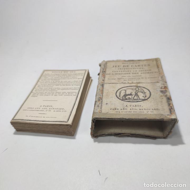 Coleccionismo Papel Varios: Colección de 43 cartas en estuche. La historia de los animales. París. Chez ant. Aug. Renouard. - Foto 10 - 268938964