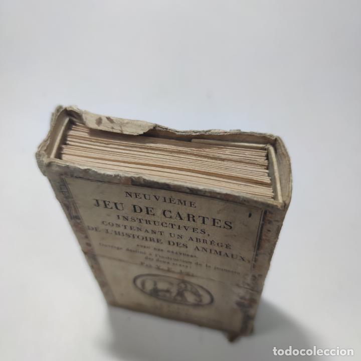 Coleccionismo Papel Varios: Colección de 43 cartas en estuche. La historia de los animales. París. Chez ant. Aug. Renouard. - Foto 11 - 268938964