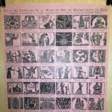 Coleccionismo Papel Varios: AUCA - ALELUYA - MARE DE DÉU DE LA MISERICORDIA - REUS - AÑO 1954 - 32 X 45 CM. Lote 269074578