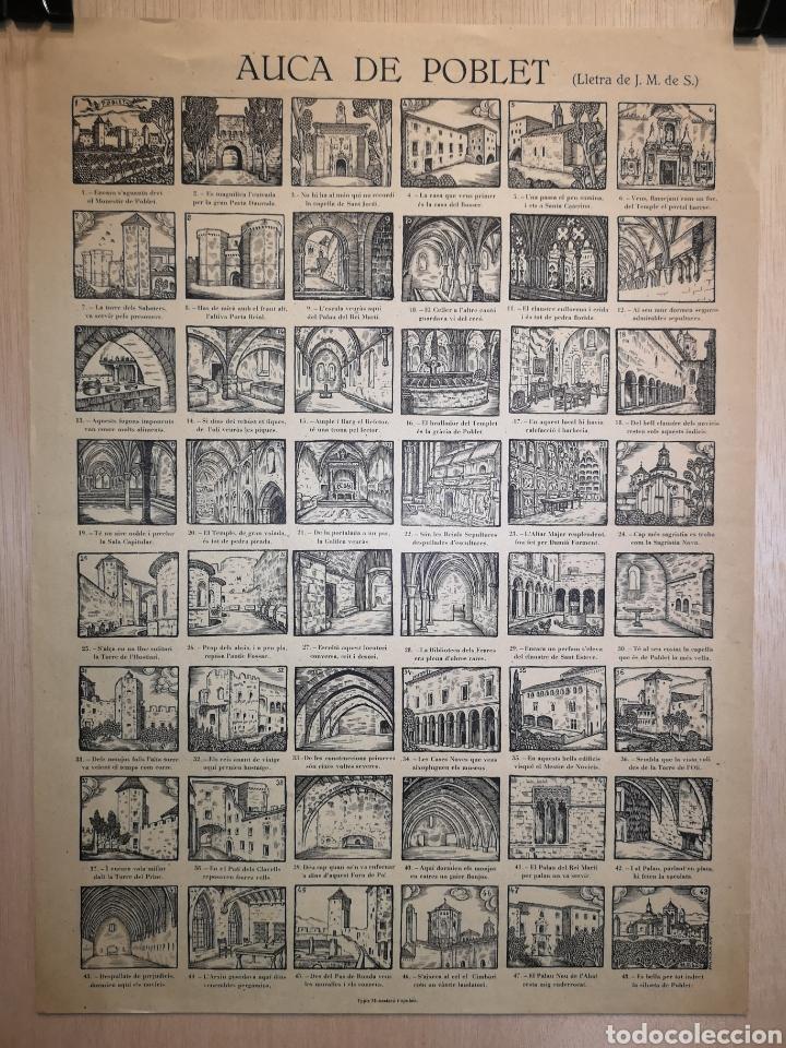 AUCA - ALELUYA - POBLET - SIGLO XX - 33 X 45 CM (Coleccionismo en Papel - Varios)
