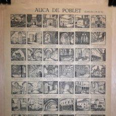 Coleccionismo Papel Varios: AUCA - ALELUYA - POBLET - SIGLO XX - 33 X 45 CM. Lote 269075483
