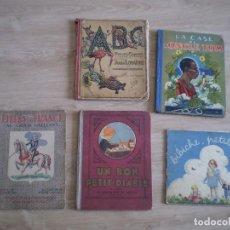 Coleccionismo Papel Varios: 5 CUENTOS AÑOS 30-40. EN FRANCES. BIBICHE PETIT FILLE, UN BON PETIT DIABLE...... Lote 269077078