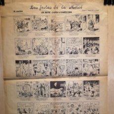 Coleccionismo Papel Varios: AUCA - ALELUYA - LAS FESTAS DE LA MERCÈ - SIGLO XX - 40 X 55.50 CM. Lote 269081893