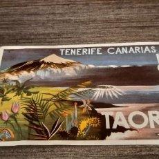 Coleccionismo Papel Varios: ETIQUETA PUBLICIDAD VINTAGE TENERIFE CANARIAS HOTEL TAORO (SALIDA1€). Lote 269084273