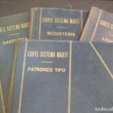 Coleccionismo Papel Varios: CORTE SISTEMA MARTI-COLECCION DE 4 LIBROS-MODISTERIA-SASTRERIA-LENCERIA-PATRONES-VER FOTOS(V-22.794). Lote 269123943