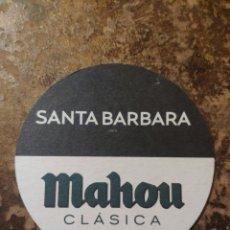 Coleccionismo Papel Varios: POSAVASOS CERVEZA MAHOU CLASICA, SANTA BÁRBARA. Lote 269175893