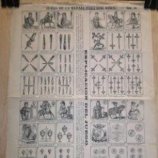 Coleccionismo Papel Varios: AUCA - ALELUYA - JUEGO DE LA BARAJA PARA LOS NIÑOS - SIGLO XIX - 32 X 44 CM. Lote 269222633