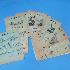 Coleccionismo Papel Varios: LOTE DE 10 CUADERNOS - RUBIO - ESCRITURA VERTICAL. Lote 269226158