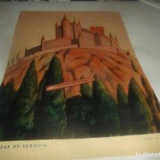 Coleccionismo Papel Varios: RECORTE AÑO 1934 ( SEGOVIA) EL ALCAZAR DE SEGOVIA (DIBUJO DE VILADOMAT ). Lote 269226208