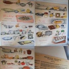 Coleccionismo Papel Varios: LÁMINAS VINTAGE DE COCINA GRÁFICA WALY (LOTE DE 7) / VINTAGE RECIPE CARDS (7). Lote 269228388