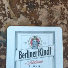 Coleccionismo Papel Varios: POSAVASOS CERVEZA BERLINER KINDL. Lote 269345508