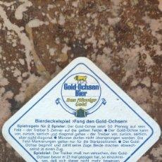 Coleccionismo Papel Varios: POSAVASOS CERVEZA GOLD-OCHSEN BIER. Lote 269345848