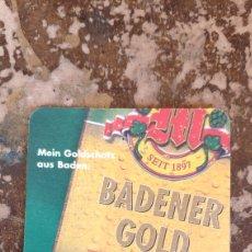 Coleccionismo Papel Varios: POSAVASOS CERVEZA MULLER BRAU, BADENER GOLD. Lote 269350523