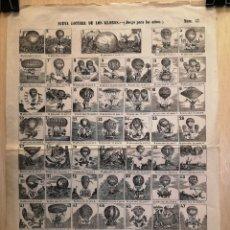 Collectionnisme Papier divers: AUCA - ALELUYA - NUEVA LOTERÍA DE LOS GLOBOS - (JUEGO PARA NIÑOS) - SIGLO XIX - 32.50 X 44.50 CM. Lote 269357088