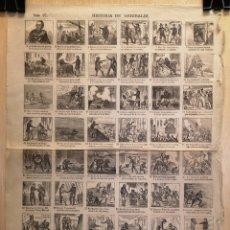 Collectionnisme Papier divers: AUCA - ALELUYA - HISTORIA DE GARIBALDI - AÑO 1876 - 32 X 43.50 CM. Lote 269364513