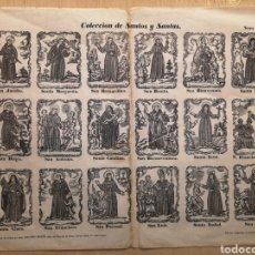 Collectionnisme Papier divers: AUCA - ALELUYA - COLECCIÓN DE SANTOS Y SANTAS - AÑO 1868 - 44 X 32 CM. Lote 269365658