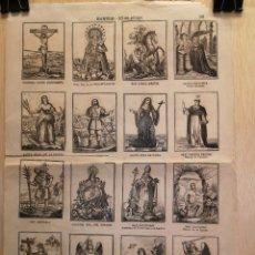 Collectionnisme Papier divers: AUCA - ALELUYA - SANTOS - 16 EN PLIEGO - SIGLO XIX - 31.50 X 44 CM. Lote 269368233