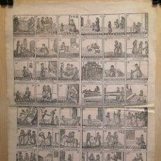 Collectionnisme Papier divers: AUCA - ALELUYA - VIDA DE LA MUJER BUENA O CONSECUENCIAS DE LA BUENA EDUCACIÓN -SIGLO XIX - 32.50X44. Lote 269382918