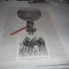 Coleccionismo Papel Varios: RECORTE AÑO 1922.- EL TENIENTE SR. LECEA CON SU AVRO, CETRERÍ MODERNA , CAZAR AVURTADAS. Lote 269482078