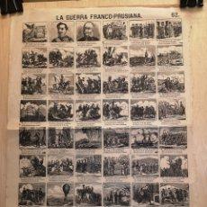 Coleccionismo Papel Varios: AUCA - ALELUYA - LA GUERRA FRANCO - PRUSIANA - SIGLO XIX - 32 X 44 CM. Lote 269600788