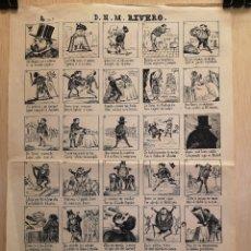 Coleccionismo Papel Varios: AUCA - ALELUYA - D. N. M. RIVERO - AÑO 1869 - 31.50 X 44.50 CM. Lote 269641358
