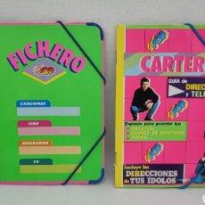 Coleccionismo Papel Varios: LOTE SUPER POP FICHERO Y CARTERA. BUEN ESTADO. SIN ESCRITURAS.. Lote 270097883