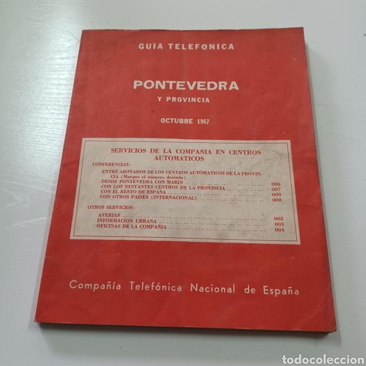 Coleccionismo Papel Varios: GUIA TELEFONICA PONTEVEDRA Y PROVINCIA 1967 VIGO REDONDELA CANGAS VILLAGARCIA SILLEDA LA GUARDIA ... - Foto 10 - 270530493