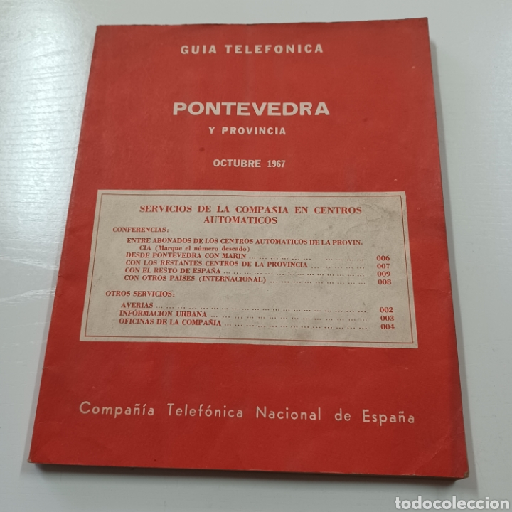 GUIA TELEFONICA PONTEVEDRA Y PROVINCIA 1967 VIGO REDONDELA CANGAS VILLAGARCIA SILLEDA LA GUARDIA ... (Coleccionismo en Papel - Varios)