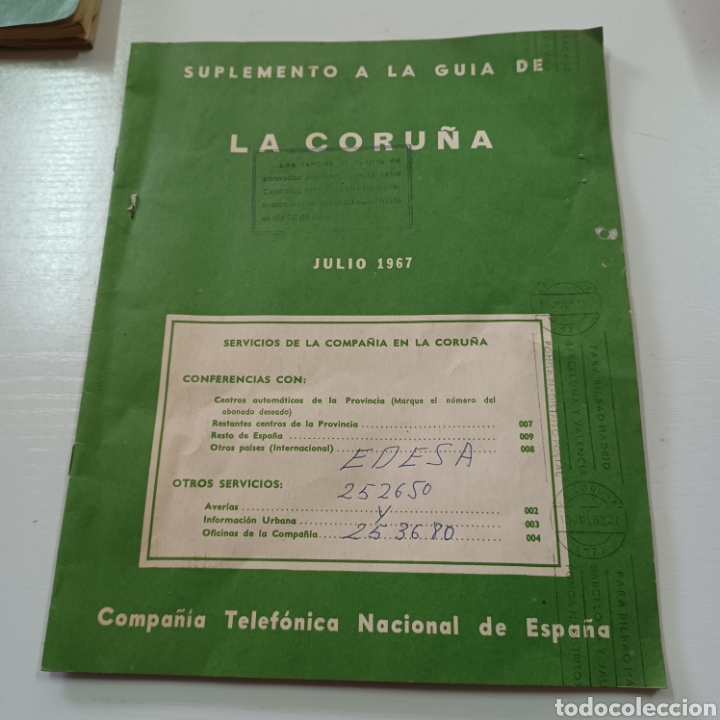 Coleccionismo Papel Varios: GUIA TELEFONICA LA CORUÑA Y PROVINCIA 1966 FERROL SANTIAGO DE COMPOSTELA ... - Foto 7 - 270531683