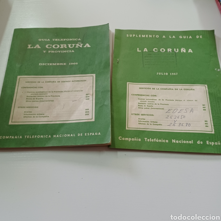Coleccionismo Papel Varios: GUIA TELEFONICA LA CORUÑA Y PROVINCIA 1966 FERROL SANTIAGO DE COMPOSTELA ... - Foto 9 - 270531683
