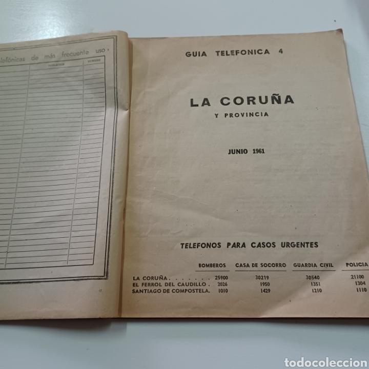 Coleccionismo Papel Varios: GUIA TELEFONICA 1961 LA CORUÑA Y PROVINCIA - SANTIAGO DE COMPISTELA FERROL .... - Foto 3 - 270532638