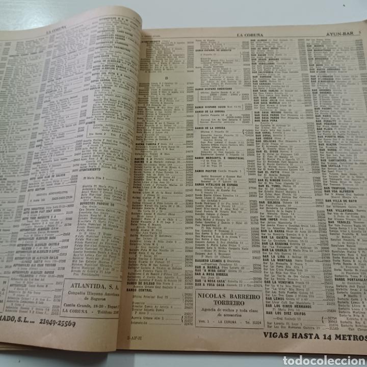 Coleccionismo Papel Varios: GUIA TELEFONICA 1961 LA CORUÑA Y PROVINCIA - SANTIAGO DE COMPISTELA FERROL .... - Foto 5 - 270532638
