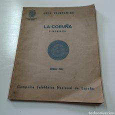 Coleccionismo Papel Varios: GUIA TELEFONICA 1961 LA CORUÑA Y PROVINCIA - SANTIAGO DE COMPISTELA FERROL ..... Lote 270532638