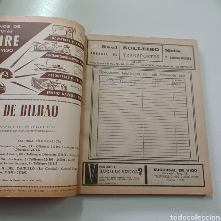 Coleccionismo Papel Varios: GUIA TELEFONICA DE PONTEVEDRA Y PROVINCIA 1969 VIGO TUY PORRIÑO ESTRADA ... - Foto 2 - 270533383