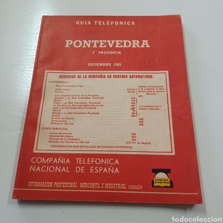 Coleccionismo Papel Varios: GUIA TELEFONICA DE PONTEVEDRA Y PROVINCIA 1969 VIGO TUY PORRIÑO ESTRADA ... - Foto 7 - 270533383