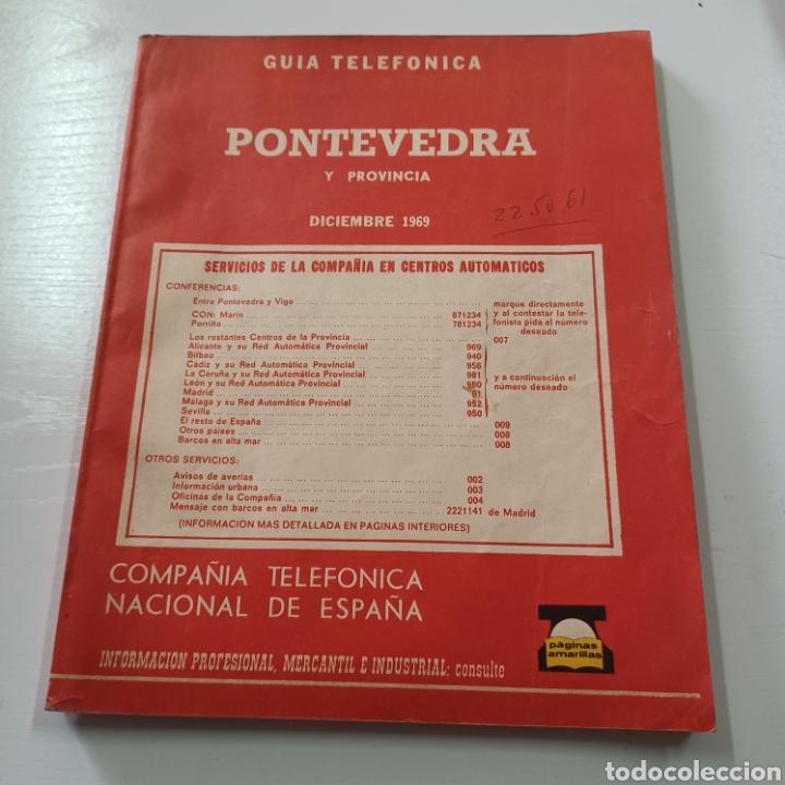 GUIA TELEFONICA DE PONTEVEDRA Y PROVINCIA 1969 VIGO TUY PORRIÑO ESTRADA ... (Coleccionismo en Papel - Varios)