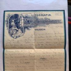 Coleccionismo Papel Varios: LITOGRAFÍA M. GARCIA CANTOS. CARTA FAMILIAR. FECHADA EN PARIS, 14 JULIO 1956.. Lote 270875943