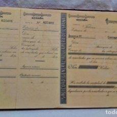 Coleccionismo Papel Varios: SOCIEDAD GENERAL AZUCARERA DE ESPAÑA.LIBRO A ESTRENAR CON 100 CHEQUES PAGO REMOLACHA.VER FOTOGRAFIAS. Lote 270997723