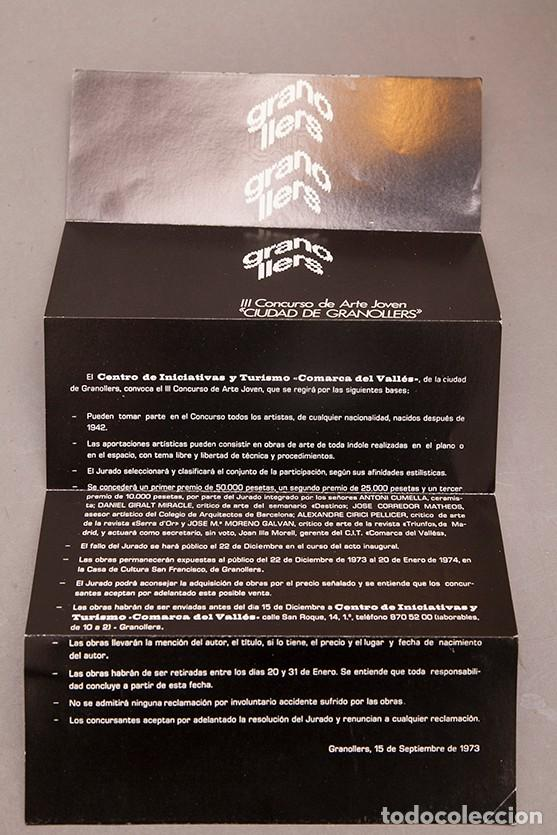 ARTE JOVEN CIUDAD DE GRANOLLERS - 1973 (Coleccionismo en Papel - Varios)