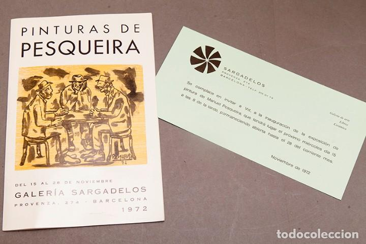 PINTURAS DE PESQUEIRA - 1972 - GALERÍA SARGADELOS BARCELONA (Coleccionismo en Papel - Varios)